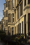 Tenement building in the street of Glasgow. Typical tenement building in the street of Glasgow stock photo