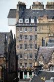 Tenement de Edimburgo, Lawnmarket, milha real imagem de stock