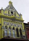 Tenement domy w starym mieście Brasov Zdjęcia Stock