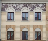 Tenement and fresco. Royalty Free Stock Image