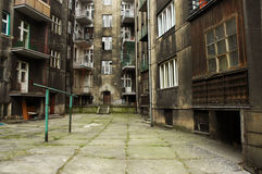 Tenement house. In katowice poland stock photography