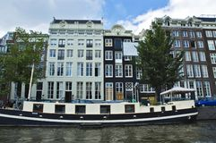 Tenement house. In Amsterdam, Holland royalty free stock images