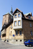 Tenement house in Kolobrzeg Royalty Free Stock Photo