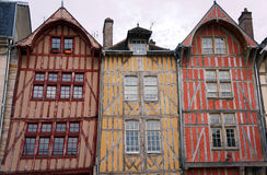 Tenement house. In old town of Troyes, France Stock Photo