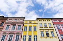 Tenement houses. And blue sky Stock Photography