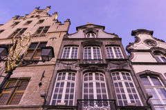 Tenement houses in Mechelen in Belgium Royalty Free Stock Image