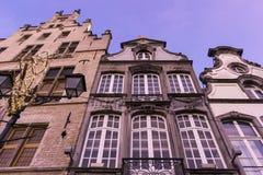 Tenement houses in Mechelen in Belgium Royalty Free Stock Image