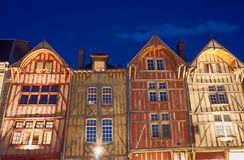 Tenement houses in old town of Troyes Royalty Free Stock Image