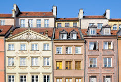 Tenement houses on Old Town in Warsaw, Poland Stock Images
