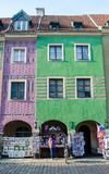Tenement houses, Poznań, Poland. Tenement houses, Old Market Square in Poznań, Poland Stock Image