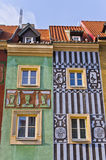 Tenement houses in Poznan, Poland Royalty Free Stock Image