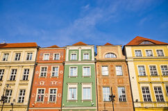 Tenement houses in Poznan, Poland Stock Images