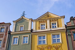 Tenement houses in Poznan, Poland Royalty Free Stock Photography