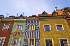 Tenement houses in Poznan, Poland Stock Photography