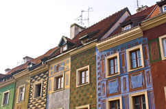 Tenement houses in Poznan, Poland Royalty Free Stock Images