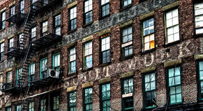 Tenement in Manhattan, New York Stock Photos