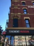 Tenement Museum, New York City. Manhattan, NY: The Tenement Museum is at 103 Orchard Street in New York City. It has restored apartments in a tenement building royalty free stock photography