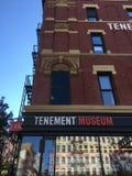 Tenement muzeum, Miasto Nowy Jork fotografia royalty free