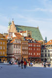 Tenements at the Castle Square in Warsaw Royalty Free Stock Photography