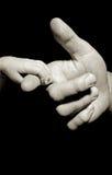 tenencia de la mano del bebé Imagen de archivo