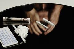 Tenencia ilícita y apego de drogas Foto de archivo libre de regalías
