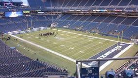 Tener una conferencia antes del partido de fútbol en Seattle Foto de archivo