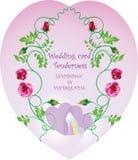Tenerezza della partecipazione di nozze Immagine di vettore di stile d'annata royalty illustrazione gratis