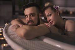 Tenerezza, romance e stazione termale Fotografia Stock