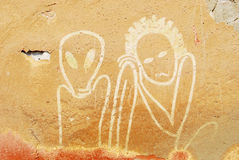 Tenerezza sulla parete Fotografia Stock Libera da Diritti