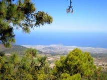 Tenerife άποψη από την κορυφή στη θάλασσα Στοκ Εικόνες