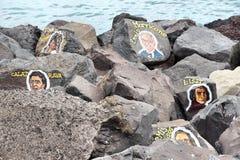Tenerife έργα ζωγραφικής μουσικών Στοκ φωτογραφία με δικαίωμα ελεύθερης χρήσης