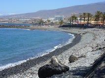 Tenerife ακτή, ηφαιστειακές πέτρες στοκ εικόνα