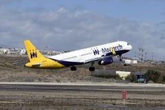 Tenerife στις 14 Φεβρουαρίου: Απογείωση αεροπλάνων 14 Φεβρουαρίου 2017 Tener Στοκ Εικόνες