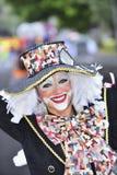 TENERIFE, στις 13 Φεβρουαρίου, χαρακτήρες και ομάδες στο καρναβάλι Στοκ Εικόνα