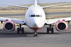TENERIFE ΣΤΙΣ 17 ΙΟΥΛΊΟΥ: Αεροπλάνο στο έδαφος 17 Ιουλίου 2017, Tenerife καναρίνι Στοκ Εικόνα