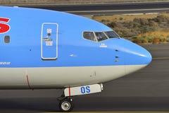 TENERIFE ΣΤΙΣ 17 ΙΟΥΛΊΟΥ: Αεροπλάνο στο έδαφος 17 Ιουλίου 2017, Tenerife καναρίνι Στοκ Φωτογραφίες