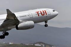 TENERIFE ΣΤΙΣ 12 ΜΑΐΟΥ: αεροπλάνο που βγάζει, στις 12 Μαΐου 2018, Tenerife Canar Στοκ εικόνες με δικαίωμα ελεύθερης χρήσης