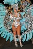 TENERIFE, ΣΤΙΣ 17 ΦΕΒΡΟΥΑΡΊΟΥ: Ομάδες καρναβαλιού και ντυμένοι με κοστούμι χαρακτήρες Στοκ φωτογραφία με δικαίωμα ελεύθερης χρήσης
