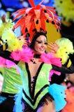 TENERIFE, 12 FEBRUARI: Groep in Carnaval Stock Foto
