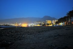 Tenerife τή νύχτα Στοκ εικόνα με δικαίωμα ελεύθερης χρήσης