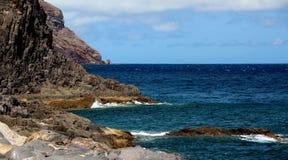 Tenerife, Atlantic ocean. Ocean and rock view Stock Image