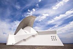 Tenerife Auditorium opera by Santiago Calatrava. Santa Cruz de Tenerife, Spain, MAY 24: Auditorio de Tenerife on MAY 24, 2011in Santa Cruz de Tenerife, Spain Royalty Free Stock Photos