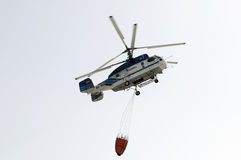 TENERIFE, AUGUST 3: Fire fighting Helicopter Royalty Free Stock Photo