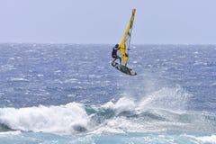 TENERIFE AUGUSTI 11: PWA som surfar, Augusti 11, 2017 Tenerife Royaltyfri Fotografi