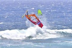 TENERIFE AUGUSTI 11: PWA som surfar, Augusti 11, 2017 Tenerife Royaltyfri Bild