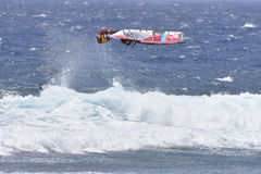 TENERIFE AUGUSTI 11: PWA som surfar, Augusti 11, 2017 Tenerife Royaltyfri Foto