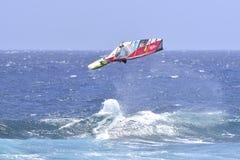 TENERIFE AUGUSTI 11: PWA som surfar, Augusti 11, 2017 Tenerife Royaltyfria Bilder