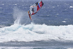 TENERIFE AUGUSTI 11: PWA som surfar, Augusti 11, 2017 Tenerife Fotografering för Bildbyråer