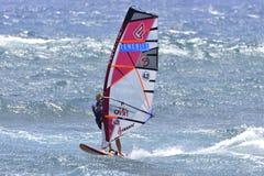 TENERIFE 11 AUGUSTUS: PWA die, 11 Augustus, 2017 Tenerife surfen Stock Foto