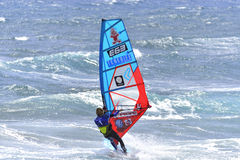 TENERIFE 11 AUGUSTUS: PWA die, 11 Augustus, 2017 Tenerife surfen Stock Foto's